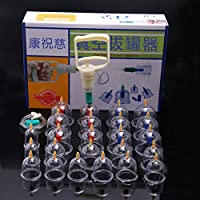Schröpfen Set 24 Vakuum-Schröpfen-Schalen mit magnetischem Kopf 12, traditionelle Haus-medizinische körperliche... preisvergleich bei billige-tabletten.eu