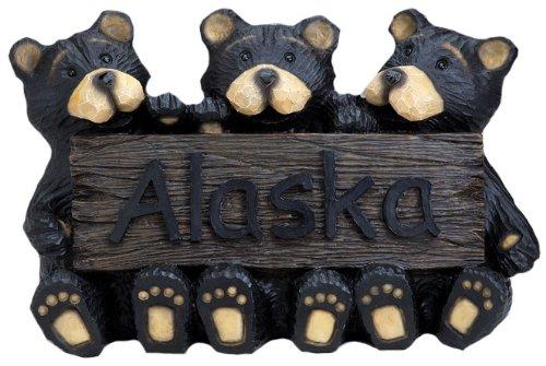 Giovani dell' orso Inc Alaska segno, Multicolore, 14.25-inch - Orso Wall Plaque