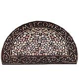 WXDD Amerikanischen europäischen Stil Haushalt Outdoor-Gummi-Türen, Türen, Türen, Fußmatte, rutschige Bodenmatte, Teppich, Fuß Pad, 56x119cm, Antike halbrunde Stein