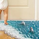 DOLDOA 3D Boden / Wandaufkleber,Abnehmbare Fußboden Wand Abziehbild Aufkleber Wandabziehbilder Vinyl Kunst Wohnzimmer D