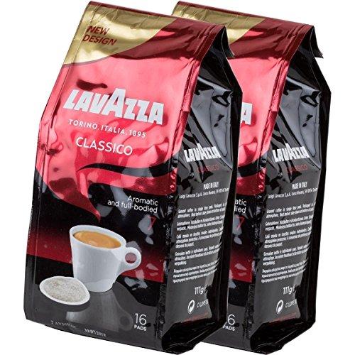 Lavazza Kaffeepads Caffè Crema Classico, 2er Pack, 2 x 16 Kaffee Pads