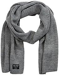 Idea Regalo - JACK & JONES Jacdna Knit Scarf Noos Sciarpa, Grigio (Grey Melange Grey Melange), Taglia unica Uomo