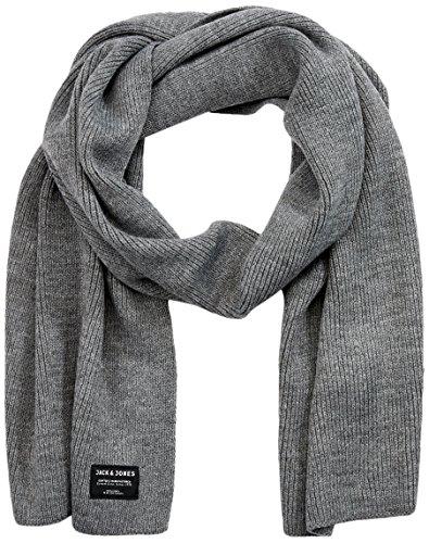 JACK & JONES Herren Schal JACDNA Knit Scarf NOOS, Grau (Grey Melange), One Size
