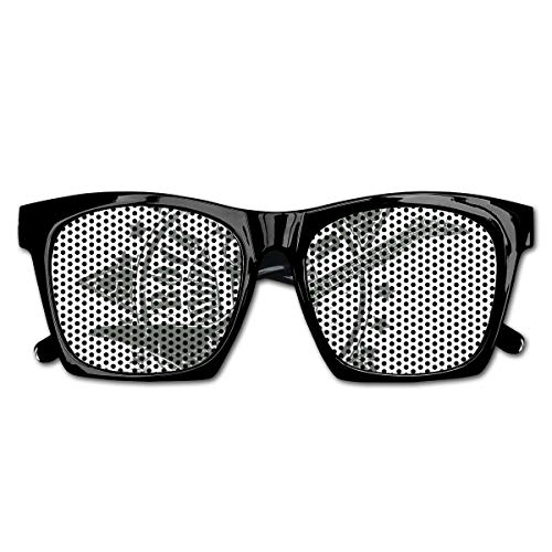 EELKKO Mesh Sunglasses Sports Polarized, Stars with Rock Sign Monochrome Musical Instrument Design Rockstar Life Singing,Fun Props Party Favors Gift Unisex (Rock Star Party Favors)