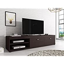 Mueble TV Soporte Elsa oscuro madera de roble wengué 140cm