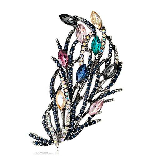 Da.wa spilla floreale di alta qualità placcato in lega di diamanti pin clip imitazione di cristallo diamante spilla scialle ciondolo clip in argento