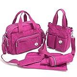 Babyhugs® 4Baby Chic Windel Wickeltasche Messenger Bag Set–Rose Pink