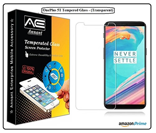 Annant Entp™ Premium Full Screen 0.3mm Pro+ Edge To Edge Coverage 2.5D Curved HD+ Tempered Glass Screen Guard Protector With Original Packaging Kit For One Plus 5T/ 1+5T/ OnePlus 5T - (Transparent)
