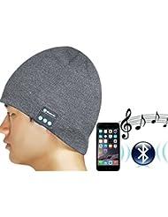 G.G.G. drahtlose Bluetooth Strickmütze Herren-Ms. perfekte Kombination von Strickmütze und Stereo Bluetooth Kopfhörer- Kompatibel mit Smartphones, Handys, Tablets, iPhone, iPad, Laptops