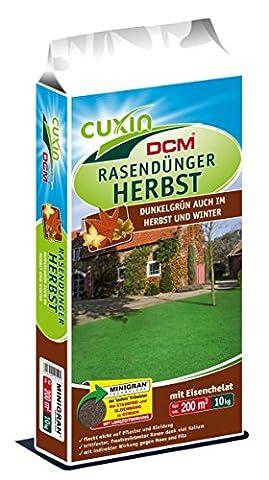 CUXIN DCM Rasendünger HERBST 10 kg Herbstrasendünger