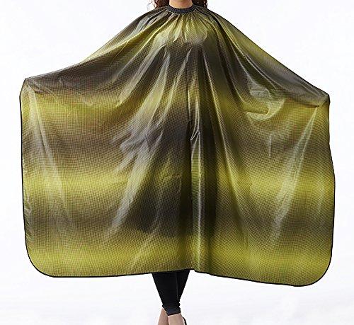 Barbier Friseurumhänge Haarschneideumhang Cape Haarschnitt Kleid Wasserdicht Antistatisch Färberei Salon Schürze Zum Haar Styling Salon Nylon Stoff Wickeln Schützen 140 * 160 Cm,Yellow (Haar-styling-cape Nylon)