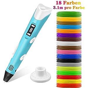3D Drucker Stifte Set 3D Printing Pen mit LCD-Bildschirm DIY Geschenk f/ür Kinder Anf/änger Erwachsene Zeichnung Kunst Handgefertigte Werke Mitening 3D Stift mit 1,75 mm PLA Filament 16 Farben