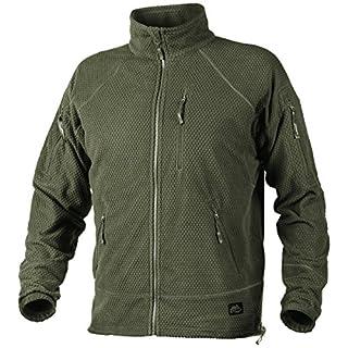 Helikon Men's Alpha Tactical Jacket Grid Fleece Olive Green Size M