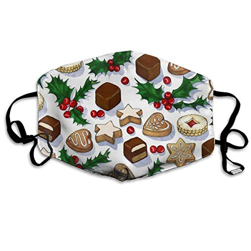 liulishuan Traditional Christmas Cookies Dust Mouth Maske,Cartoon Anti Dust Pollution Maske with Adjustable Straps Cotton Mouth Maske Design12