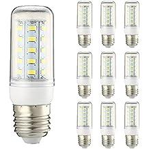 10pcs E27 5W LED Bombilla - YTJ E27 Lámpara (Luz Blanco Frío), AC