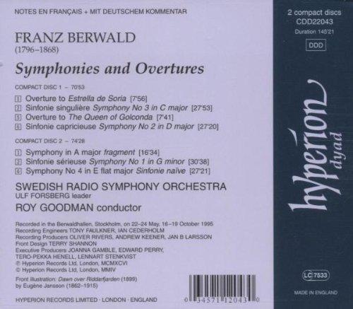 Franz Berwald : Symphonies & Ouvertures