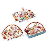 COSTWAY Spieldecke Krabbeldecke Spielbogen Erlebnisdecke Spielmatten Babydecke Laufstall ab 0 Monaten