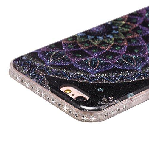 Paillette Cover Per iPhone 6 Plus 6S Plus, Asnlove Moda Bling Strass Custodia Premium TPU Silicone Caso Morbida Glitter Cassa Brillante Modello di Colore Case Bumper Per iPhone 6 Plus/6S Plus, Colore- Colore-2
