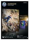 HP Advanced Q8698A - Papel fotográfico satinado (50 hojas, A4)
