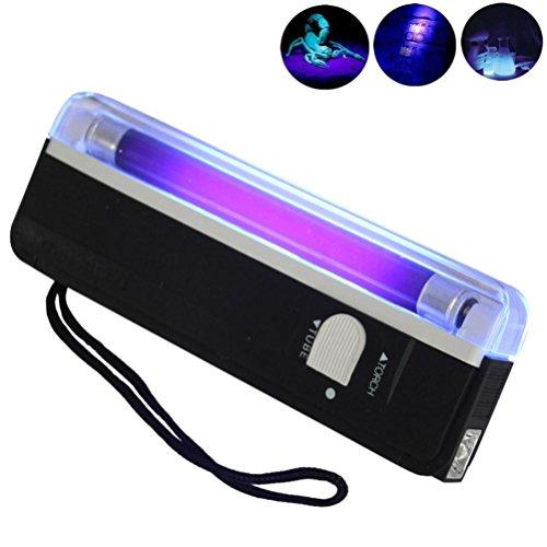 Taschenlampen, OHQ Handheld UV Schwarzlicht Taschenlampe Tragbares Schwarzlicht mit LED (Schwarz)