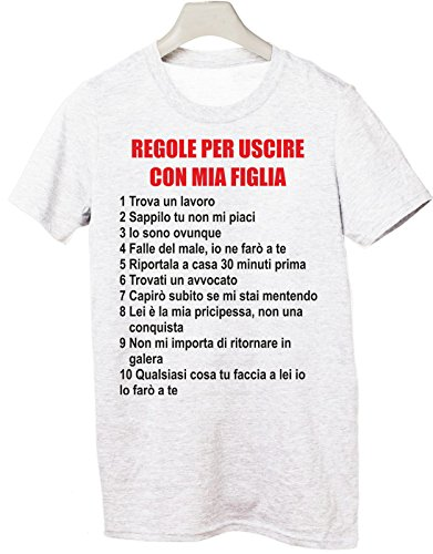 t shirt dieci regole per uscire con mia figlia