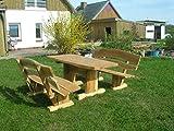 Rustikale Gartenmöbel, Sitzgruppe, Sitzgarnitur, Eiche, KJR Holzmanufaktur