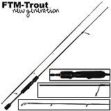 FTM Virus Spoon XP 9 1,80m 0-4,5g - Ultra Light Rute zum Forellenangeln, Spinnrute für...