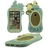 Schutzhülle Apple iPhone 6S 6 4.7 inch Hülle Cover ( Blau ), Ultra Soft-Silikon Kreatives Design Niedlich Affe Babymilchflasche Gestalten Case Tasche für iPhone 6 6S