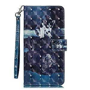 Galaxy A40 Hülle, CAXPRO® Leder und TPU Innere Brieftasche Handyhülle, Flip Ledertasche mit Standfunktion & Kartensfach für Samsung Galaxy A40, Elefant