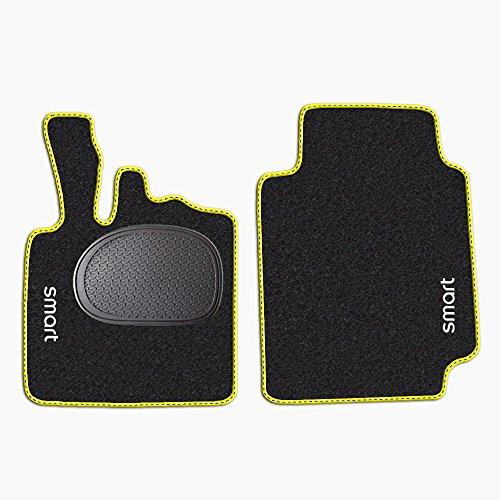 tappetini-per-smart-fortwo-w450-anni-1998-2007-battitacco-in-gomma-standard-moquette-nero-bordo-gial