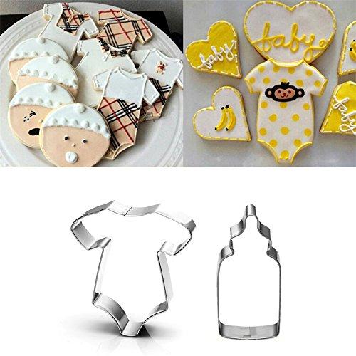 acmebuy £ š TM) 3d Lovely Abbigliamento Bambini Biberon Forma in Acciaio Inox per Biscotti Biscotti Stampo per torta Decor Feeding Bottle