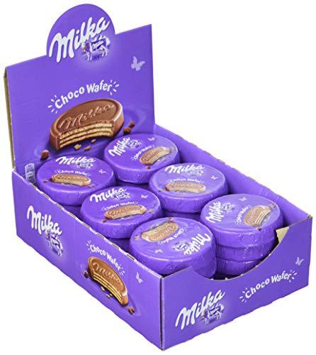 Milka Choco Wafer - Waffel mit Kakaocreme Füllung umhüllt von Alpenmilch Schokolade - Thekendisplay - 30 x 30g -