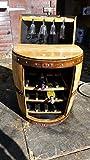Cheeky Chicks El George Reciclado Barril de Whisky Vino y sujetavasos de Pared con Estante.