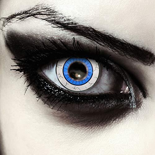 Designlenses, Blaue farbige Kontaktlinsen für Halloween Kostüm Star Wars Cosplay Larp Farblinsen Model: Ahsoka (Selene Cosplay Kostüm)