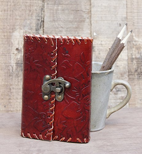 mother-day-gift-leather-bound-journal-diary-blank-travel-notebook-with-a-lock-100-unlined-sheets-and