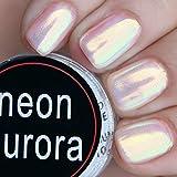 USHION Glitzerpuder, Chrom-Pigmentpuder, Meerjungfraueneffekt, 0,5g / Box, Aurora-Neon