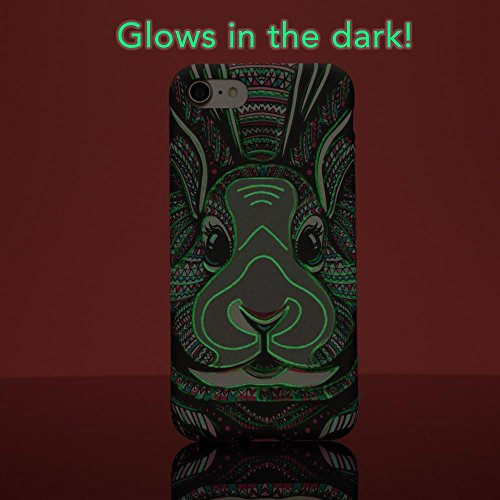 iPhone 7 / 8 Hülle Handyhülle von NICA, Dünnes Glow In The Dark Hard-Case Schutzhülle, Im Dunkeln Leuchtendes Cover Handy-Tasche, Ultra-Slim Back-Cover Etui für Apple iPhone 7 / 8, Designs:Elephant Rabbit