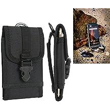 Per Caterpillar Cat S31 marsupio custodia cassa del telefono calotta di protezione Smartphone sacchetto holster cintura nero pianura semplice eleganza funzionale Protettiva verticale Cover Bag per Caterpillar Cat S31 nero - K-S-Trade(R)