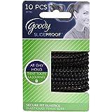 Pack Of 9 : Goody Slide Proof 4MM Elastics, Black 10 Ea (Pack Of 9)