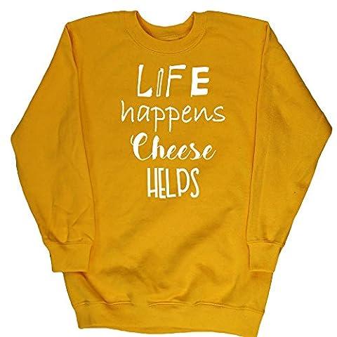 HippoWarehouse - Sweat-shirt - Fille - jaune - 8 ans