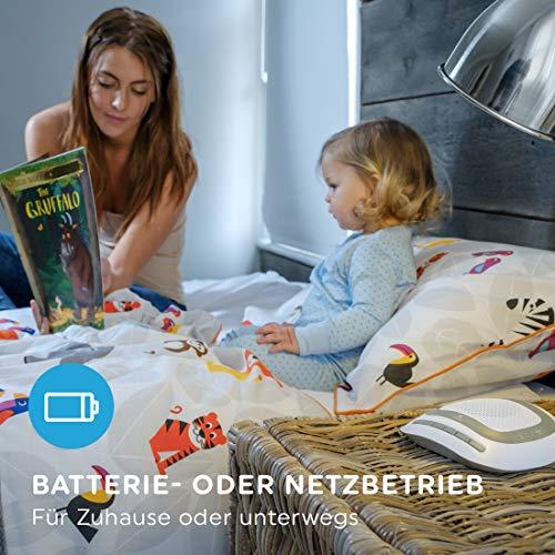 Einschlafhilfe für Babys und Kleinkinder mit Schlafliedern & White Noise & beruhigende Klänge, natürlichen Klängen wie Herztöne, weißes Rauschen, Meeresrauschen - weißes, Timerfunktion, SoundSpa, Schlafliedern, Rauschen, natürlichen, MyBaby, Meeresrauschen, Kleinkinder, Klängen, Klänge, Herztöne, einschlafhilfe kleinkind, einschlafhilfe, Beruhigende, Babys