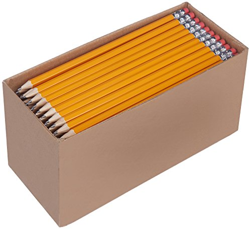 Amazonbasics - matite pre-temperate in legno #2 hb, confezione da 150 pezzi