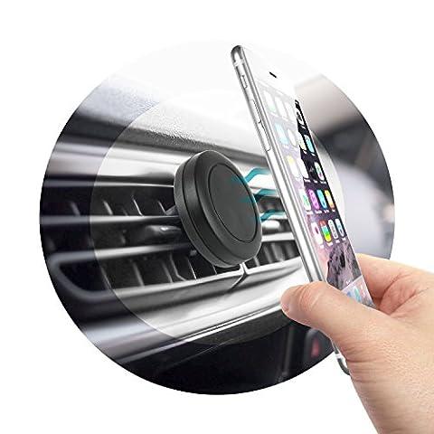 Access-Discount Accessoire Auto de Smartphone Support de telephone pour Voiture Magnétique Support aimant Universel pour mobile à Grille d'aération