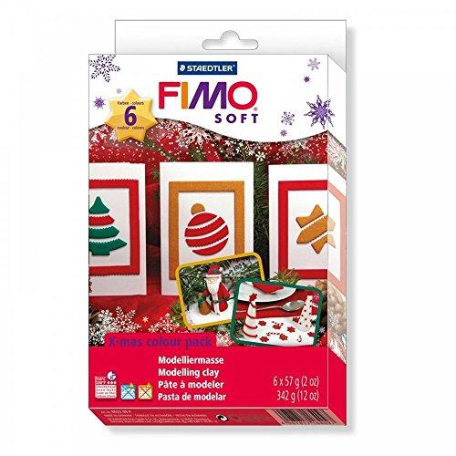 Fimo Natale Colore Pack E Stampi Morbida Pasta Modellabile