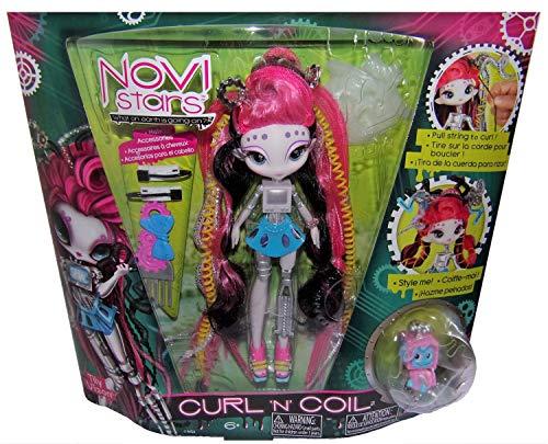 Novi Stars Modepuppen Curl ´n´ Coil, Haarstyling im galaktischen Outfit Verschiedene Charaktere für Kinder, Mädchen (Tyli Vizon)