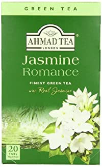 Ahmad Tea Jasmine Romance Green Tea, 20-Count Boxes (Pack of 6)