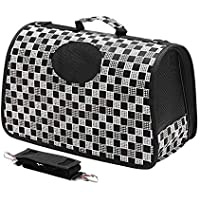 PSK PET MART Breathable Single Shoulder Bag for Pet Cat Dog Teddy Outdoor Travel Medium Black Miragul