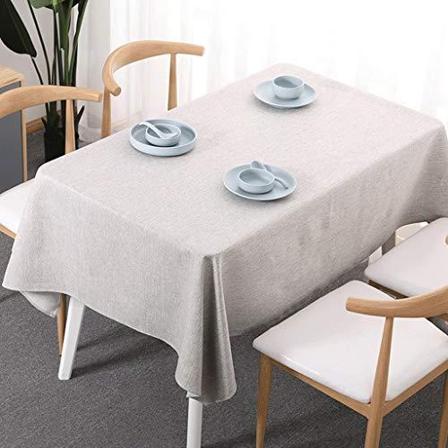 Duanguoyan Tischdecke- Einfarbige Tischdecke aus Baumwolle und Leinen Rechteckige Tischdecke aus Leinen (Color : Ivory, Size : 120X170cm) - Runde Tischdecke Ivory 120