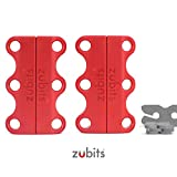 Zubits® - Fermetures magnétiques pour chaussures - Rouge Taille 1 (S)