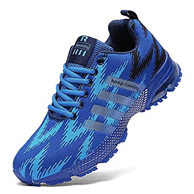 FUSHITON Running Shoes Men - Air Cushion Mens Women Tennis Shoe Lightweight Fashion Walking Sneakers Breathable Athletic Training Sport for Womens